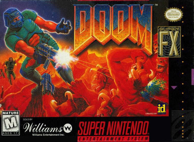 Doom - Sculptured Software, 1995 - com o chip adicional Super FX GSU-2