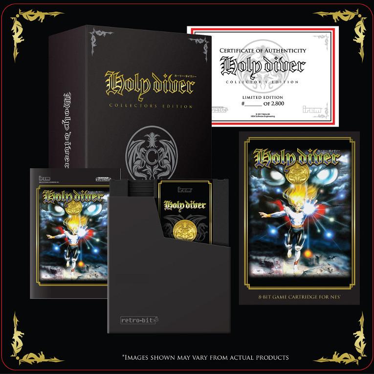 Kit da Edição de Colecionador do jogo Holy Diver