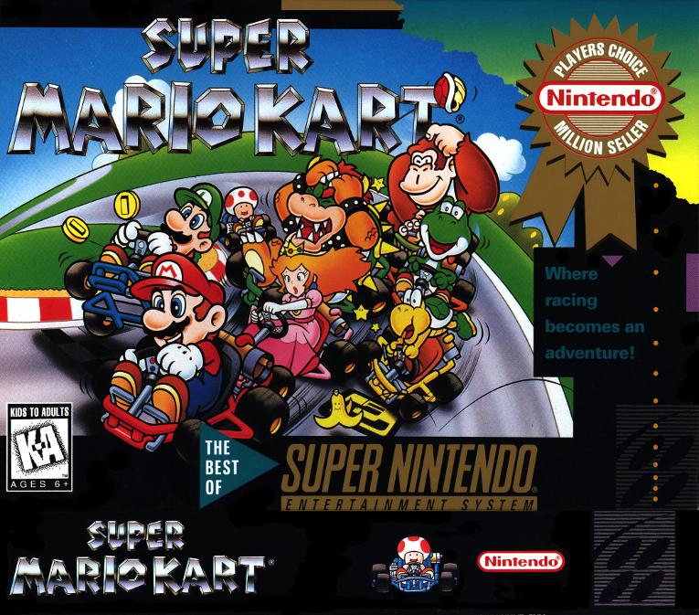 Super Mario Kart - Nitendo,1992 - usa o chip adicional DSP-1/1B