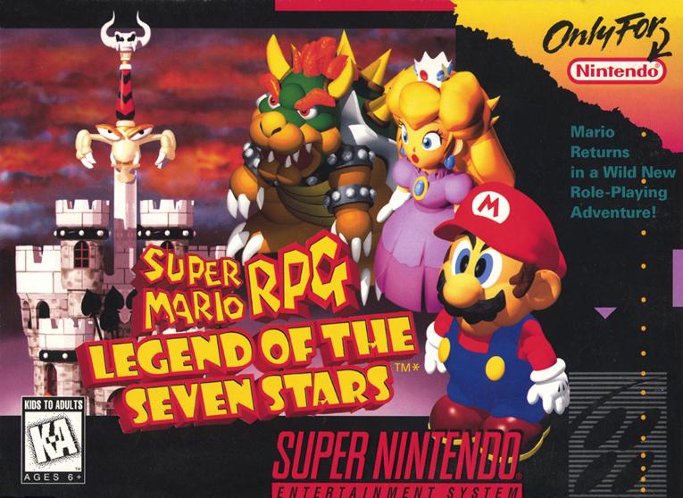 Super Mario RPG: Legend of the Seven Stars - Square, 1996 - com o chip adicional SA1