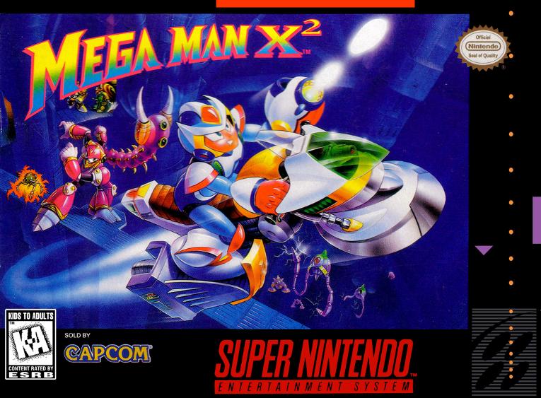 Megaman X2 e X3 - Capcom, 1994 - com o chip adicional CX4