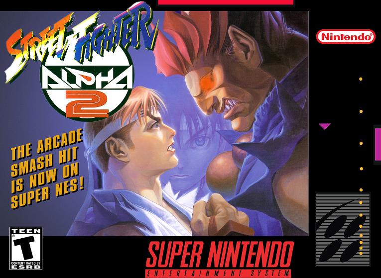 Street Fighter Alpha 2 - Capcom, 1996 - com o chip adicional S-DD1