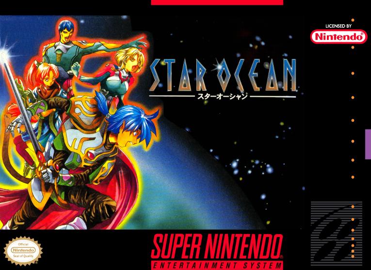 Star Ocean - Tri-Ace, 1996 - com o chip adicional S-DD1
