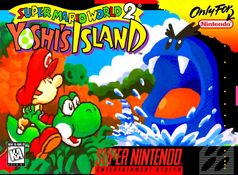 Super Mario World 2: Yoshi's Island, Nintendo,1995 - com o chip adicional Super FX GSU-2