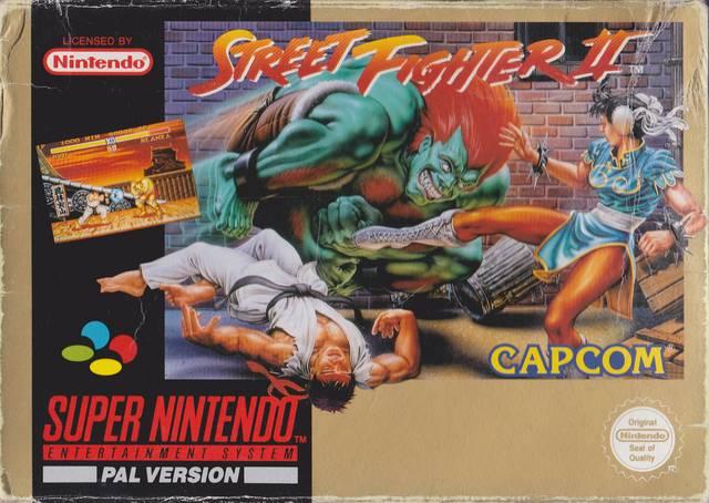 O Fenômeno chamado Street Fighter 2: Caixa da Versão de Super Nintendo