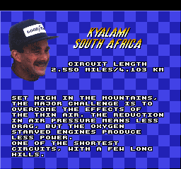 Mansell dando a letra.